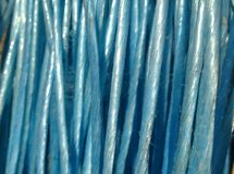 blauwe kabeldetails Royalty-vrije Stock Foto