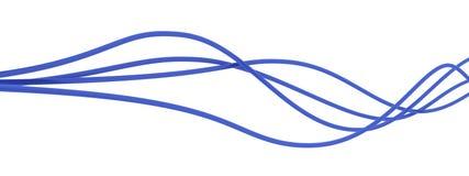 Blauwe kabels royalty-vrije stock foto's