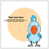 Blauwe kaketoepapegaai, groetkaart, vector Royalty-vrije Stock Afbeeldingen