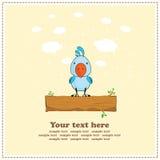 Blauwe kaketoepapegaai, groetkaart, vector Royalty-vrije Stock Afbeelding