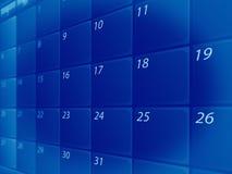 Blauwe kalender vector illustratie