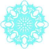 Blauwe kanten sneeuwvlok Vector illustratie Royalty-vrije Stock Afbeeldingen