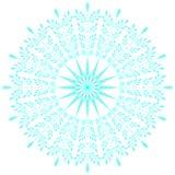 Blauwe kanten sneeuwvlok Vector illustratie Stock Foto