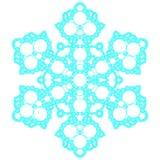Blauwe kanten sneeuwvlok Vector illustratie Stock Afbeelding