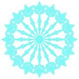 Blauwe kanten sneeuwvlok Vector illustratie stock foto's