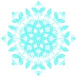 Blauwe kanten sneeuwvlok Vector illustratie stock fotografie