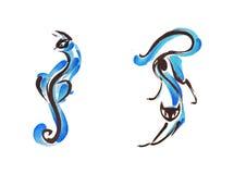 Blauwe kat twee Royalty-vrije Stock Foto's