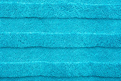 Blauwe Katoenen Handdoektextuur Royalty-vrije Stock Afbeeldingen