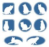 Blauwe kattenframes vector illustratie