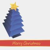 Blauwe Kerstboom Royalty-vrije Stock Afbeelding