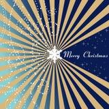 Blauwe Kerstkaart - Vrolijke Kerstmis Royalty-vrije Stock Foto