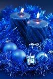 Blauwe Kerstmis royalty-vrije stock foto's
