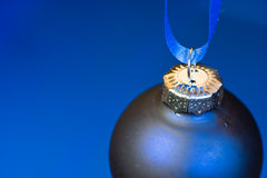 Blauwe Kerstmis Stock Foto