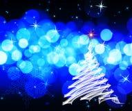 Blauwe Kerstmis Royalty-vrije Stock Afbeeldingen