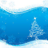 Blauwe Kerstmis Royalty-vrije Stock Foto