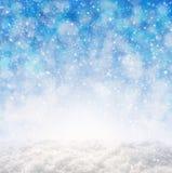 Blauwe Kerstmis abstracte achtergrond Royalty-vrije Stock Foto