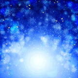 Blauwe Kerstmis abstracte achtergrond Royalty-vrije Stock Afbeeldingen