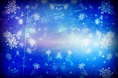 Blauwe Kerstmis achtergrondsneeuwtextuur, abstractie, sneeuwvlokken stock illustratie