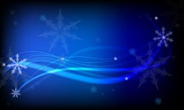 Blauwe Kerstmis backgound royalty-vrije illustratie
