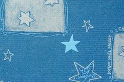 Blauwe Kerstmis beweging veroorzakend op document karton met onscherp effect Stock Fotografie