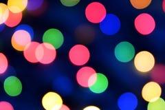 Blauwe Kerstmis bokeh met lichte prachtig kleine lichten stock foto