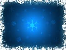 Blauwe Kerstmisachtergrond Stock Afbeeldingen