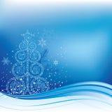 Blauwe Kerstmisachtergrond Royalty-vrije Stock Foto