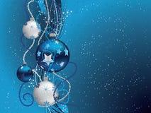 Blauwe Kerstmisachtergrond vector illustratie