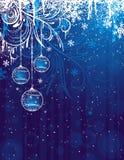 Blauwe Kerstmisachtergrond Royalty-vrije Stock Fotografie