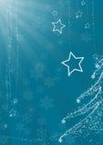 Blauwe Kerstmisachtergrond Royalty-vrije Stock Foto's