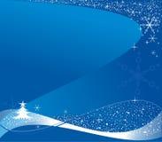 Blauwe Kerstmisachtergrond royalty-vrije illustratie