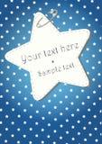 Blauwe Kerstmisachtergrond met sterren Stock Foto