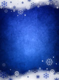 Blauwe Kerstmisachtergrond van het ijs Stock Afbeelding