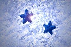 Blauwe Kerstmisachtergronden Stock Fotografie