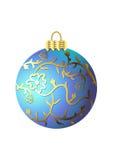 Blauwe Kerstmisbal stock illustratie