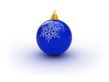Blauwe Kerstmisbal vector illustratie
