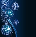 Blauwe Kerstmisballen vector illustratie