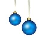 Blauwe Kerstmisballen royalty-vrije illustratie