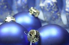 Blauwe Kerstmisballen Royalty-vrije Stock Afbeelding