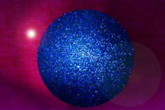 Blauwe Kerstmisbol Stock Foto