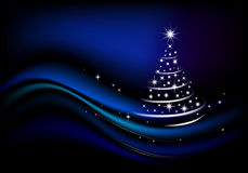 Blauwe Kerstmisboom Stock Afbeelding