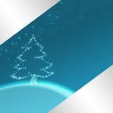 Blauwe Kerstmisillustratie Stock Foto