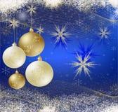 Blauwe Kerstmiskaart stock illustratie