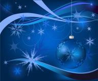 Blauwe Kerstmiskaart vector illustratie