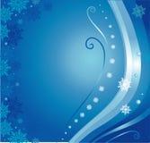 Blauwe Kerstmiskaart Stock Foto's