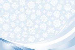 Blauwe Kerstmiskaart Stock Afbeelding