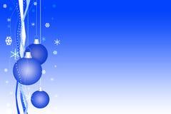 Blauwe Kerstmiskaart Stock Fotografie