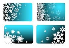 Blauwe Kerstmiskaarten Stock Fotografie