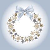 Blauwe Kerstmiskroon Stock Foto's