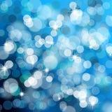 Blauwe Kerstmislichten Stock Illustratie